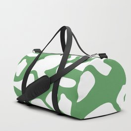 Groovy Green and White Abstract Duffle Bag