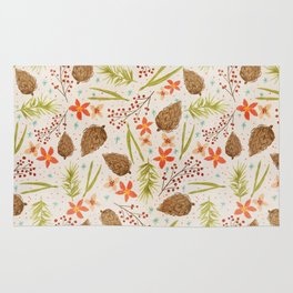 Quiet Walk In The Forest - A Soft And Lovely Pattern Rug