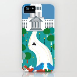 Boise, Idaho - Skyline Illustration by Loose Petals iPhone Case