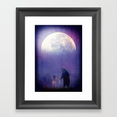 Follow your inner moonlight Framed Art Print