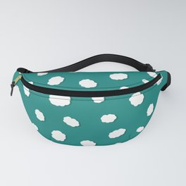Grazing Sheep on Green Pastures Fanny Pack