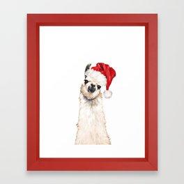 Christmas Llama Framed Art Print