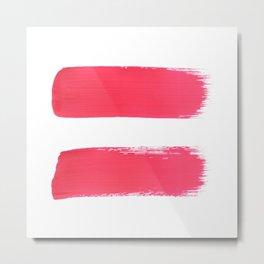 One human kind - Pink Equality Metal Print