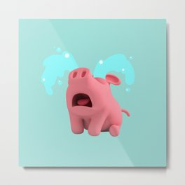 Rosa the Pig is Crying Metal Print