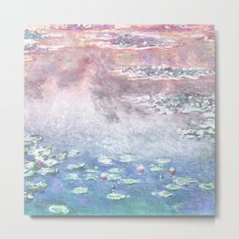 Water Lilies Illustration  Metal Print