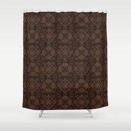 Brown patchwork Shower Curtain