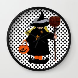 My Little Witch, Halloween Costume Wall Clock