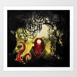 Zoidpunk Steampunk Zoidberg Art Print