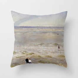 Coastal scene Throw Pillow