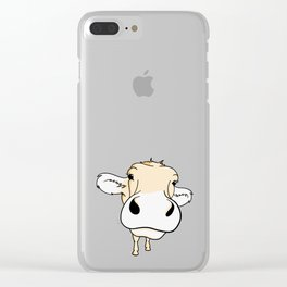 your friend 'Cow' Clear iPhone Case
