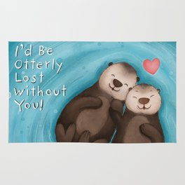 Otterly in Love Rug