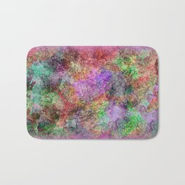 Colorful Abstract Water Color Misty Swirls Design Bath Mat