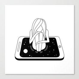 Internet Addiction Canvas Print