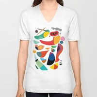 kitchen V-neck T-shirts featuring Still life from god's kitchen by Picomodi