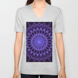 Pretty dark plum mandala Unisex V-Neck