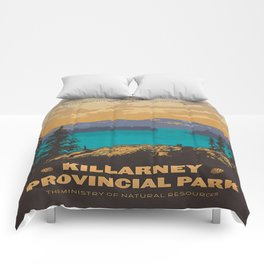 Vintage poster - Killarney Provincal Park, Canada Comforters