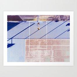 basketball court 3 Art Print
