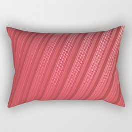 Stripes II - Red Rectangular Pillow