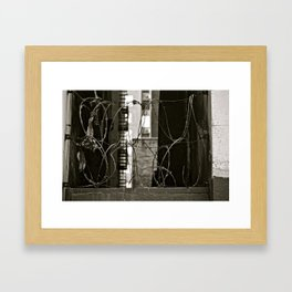 BARBED-WIRE-NYC Framed Art Print