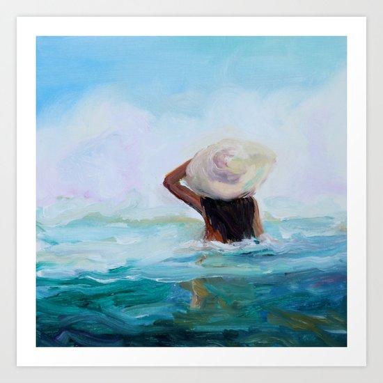 Private Beach Art Print