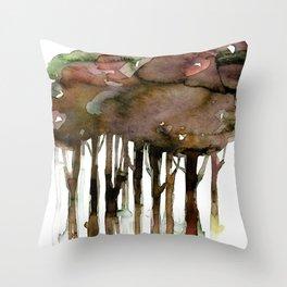 Tree Impressions No. 2I by Kathy Morton Stanion Throw Pillow
