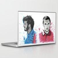 tyler spangler Laptop & iPad Skins featuring Tyler Joseph by Alycia Plank
