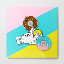 Astro Donut Dumbbell | Astronaut | Cosmonaut | pulps of wood Metal Print