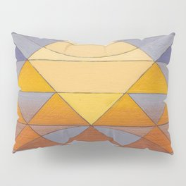 Pyramid Sun Mauve Purple Pillow Sham