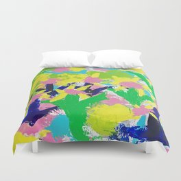 Impressionistic Daisies in the Garden Duvet Cover