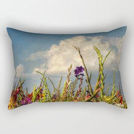 colored swords - field of Gladiola flowers Rectangular Pillow