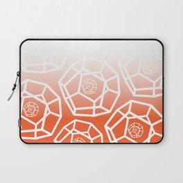 White Orange 3D Pentagon Laptop Sleeve