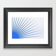 Blue rays Framed Art Print