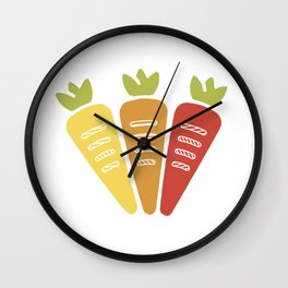 Some Awesome Carrots! Wall Clock