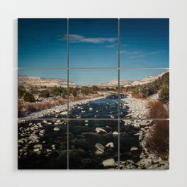 Chama River in Snow Wood Wall Art