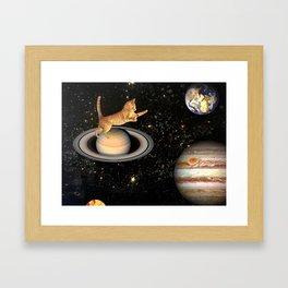 Cat.In.Space. Gerahmter Kunstdruck