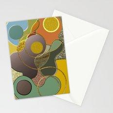 Modern Metallic Geometric Abstract Stationery Cards