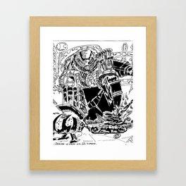 Omega Supreme Framed Art Print