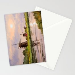 Windmills In The Netherlands Stationery Cards