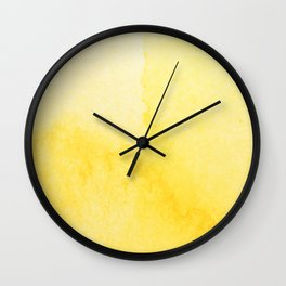 Sunshine Watercolor Wall Clock