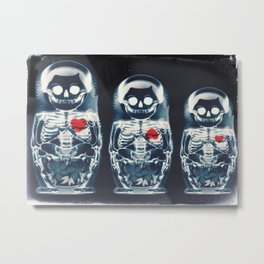 Nesting Doll X-Ray Metal Print
