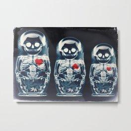 Nesting Doll X-Ray Metal Print