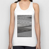 knit Tank Tops featuring Grey Knit by GPM Arts