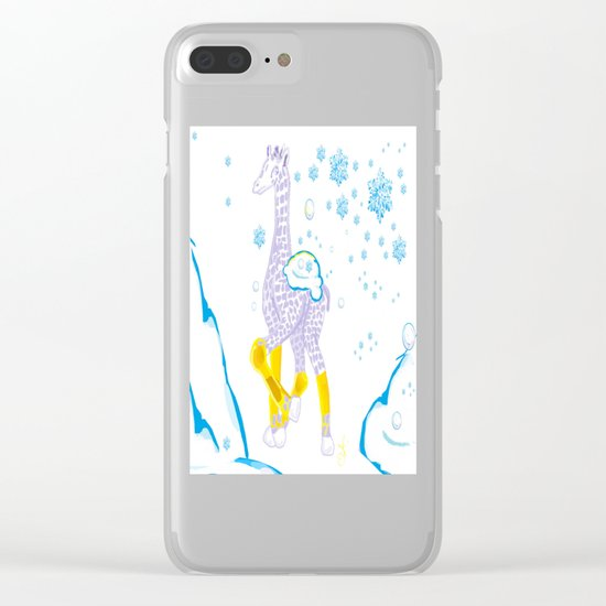 Winter is Coming - Midas is Ready - Christmas Lavender Giraffe Clear iPhone Case