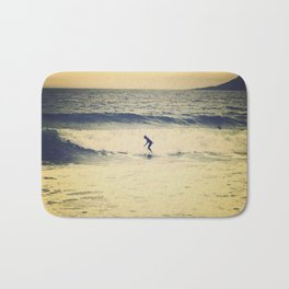 Surf  photography in Cannes French Riveria Bath Mat