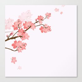 Blooming cherry tree Canvas Print