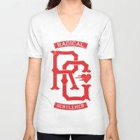 monogram V-neck T-shirts featuring Monogram! by Radical Gentlemen