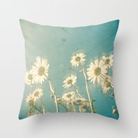 forever young Throw Pillows featuring Forever Young by Cassia Beck