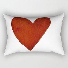 Hand-painted Watercolour red heart Rectangular Pillow