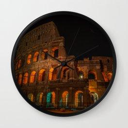 Colosseum at Night Wall Clock