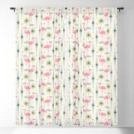 Atomic Flamingo Oasis - Larger Scale ©studioxtine Blackout Curtain